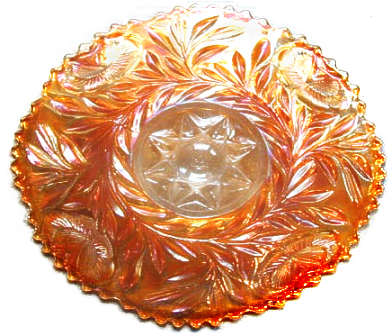 Grand Thistle plate, marigold